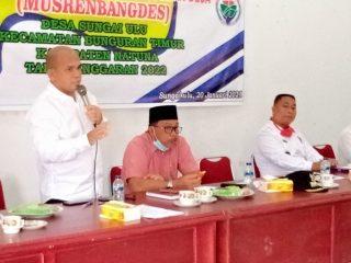 Ketua Komisi I DPRD Natuna Wan Arismuandar Ikuti Musrenbangdes Sungai Ulu, SamuderaKepri