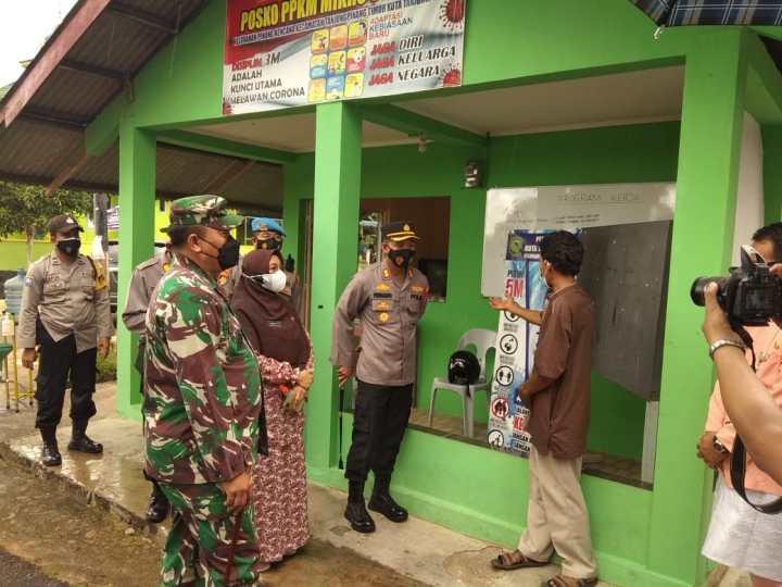 Dandim 0315/Bintan dan Kapolres Tinjau Posko PPKM Tanjungpinang, SamuderaKepri