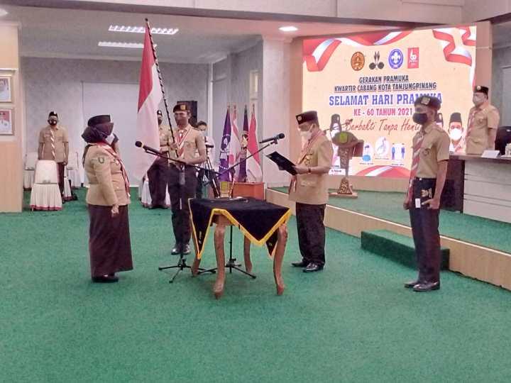 Walikota Tanjungpinang Dilantik Menjadi PAW Ketua Majelis Pembimbing Cabang Pramuka, SamuderaKepri