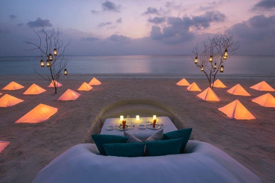 Candle Light Dinner at Dusit Thani Resort Maldives