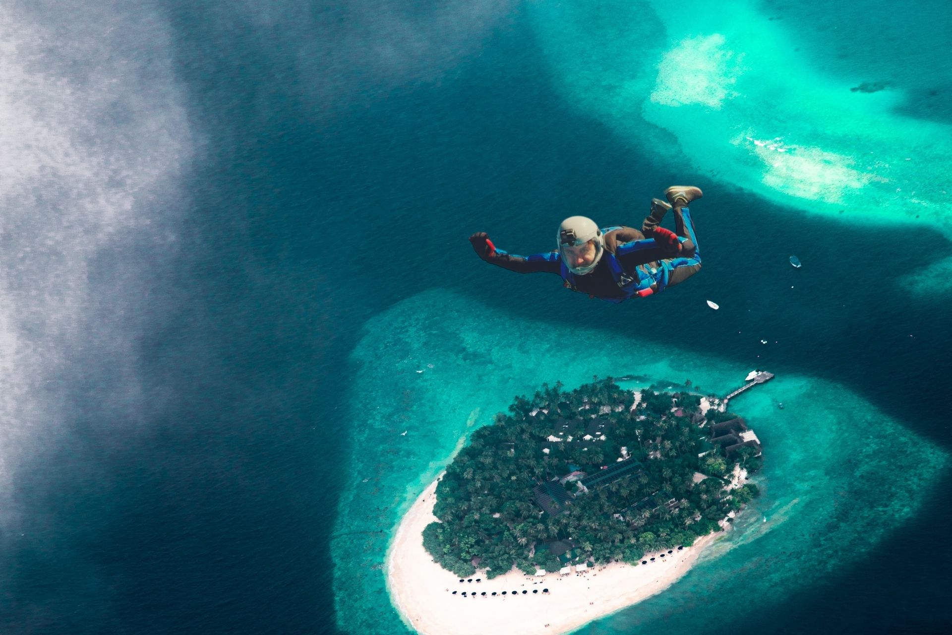 Skydiving in Maldives