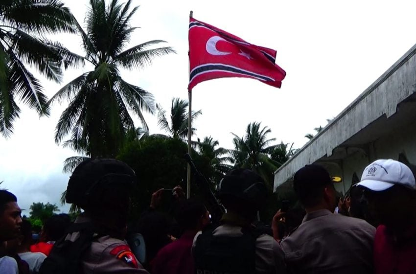 Ulang Tahun GAM, Bendera Bulan Bintang Berkibar di Lhokseumawe