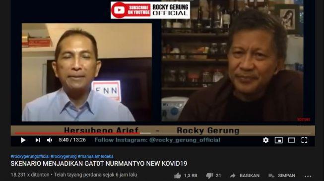 Rocky Gerung: Pemerintah Gagal Memberantas Covid Bergeser Untuk Memberantas Gatot Nurmantyo