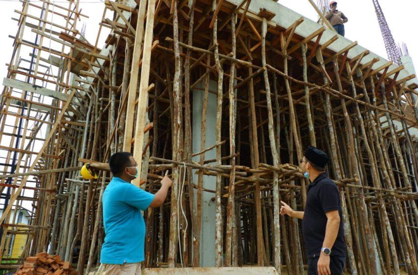Pembangunan Gedung UTD PMI Lhokseumawe Telah Mencapai 60 Persen