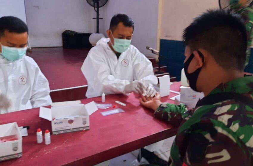 Ratusan TNI Aceh Utara Di Rapid Test