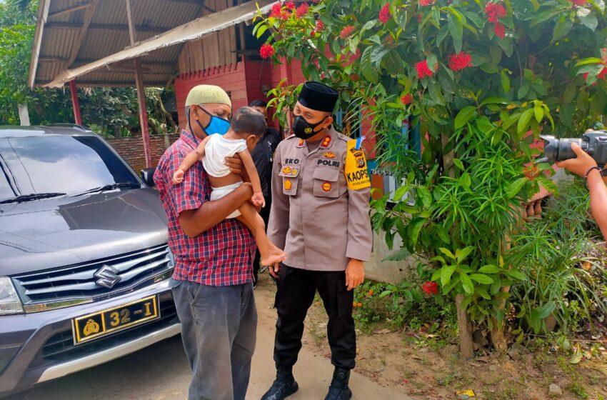 Balita Menderita Bibir Sumbing di Aceh Utara Terima Bantuan Dari Kapolres Lhokseumawe