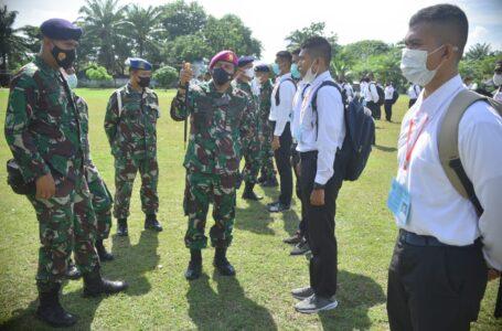 Danlanal Pimpin Upacara Pembukaan Penerimaan Calon Peserta Seleksi Bintara dan Tamtama TNI AL
