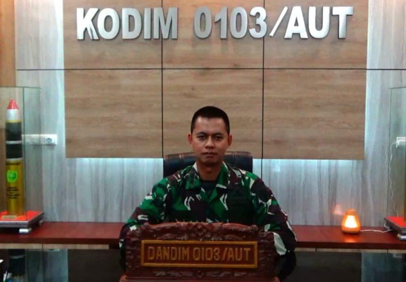 Tanpa Lelah, Dandim 0103/Aceh Utara Terus Ingatkan Warga Disiplin Prokes dan Waspada Covid-19