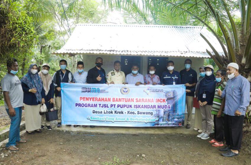 PT PIM Bantu MCK Untuk Warga Desa Lhok Krek
