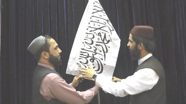 Upacara Bendera Taliban Saat Peringatan 20 Tahun Tragedi 9/11
