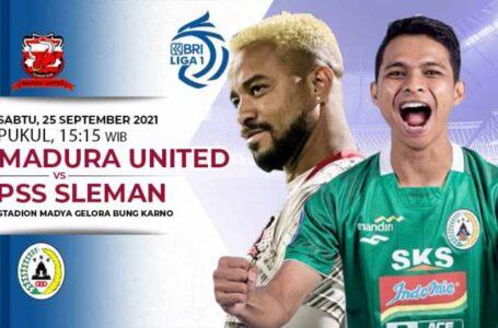 Begini Prediksi Madura United vs PSS Sleman