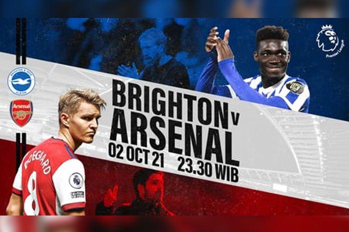 Link Live Streaming Arsenal VS Brighton