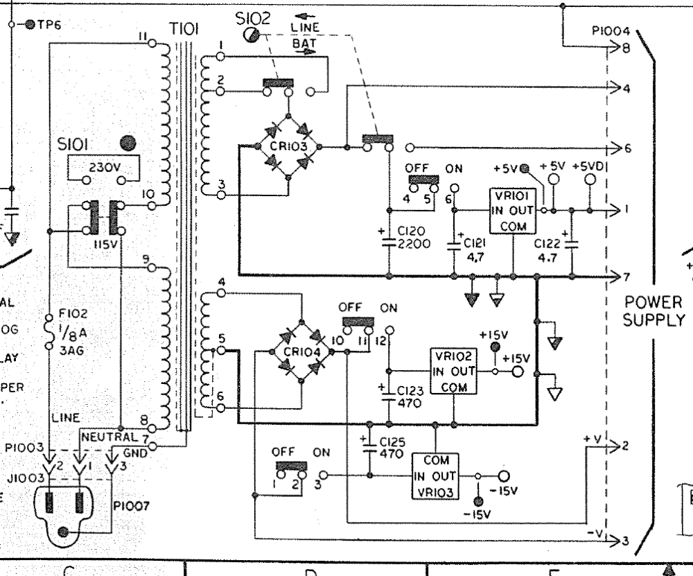 small resolution of original keithley 177 power supply schematic