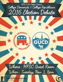 College Republicans - College Democrats Election Debate, Fall 2016