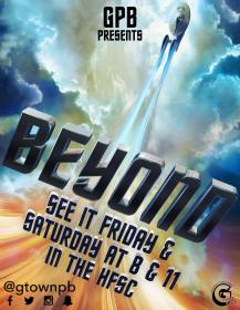 Flier for Star Trek Beyond film showing on campus