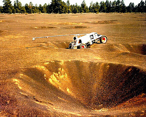 Crater field #1 was used also to test Explorer vehicle prototype