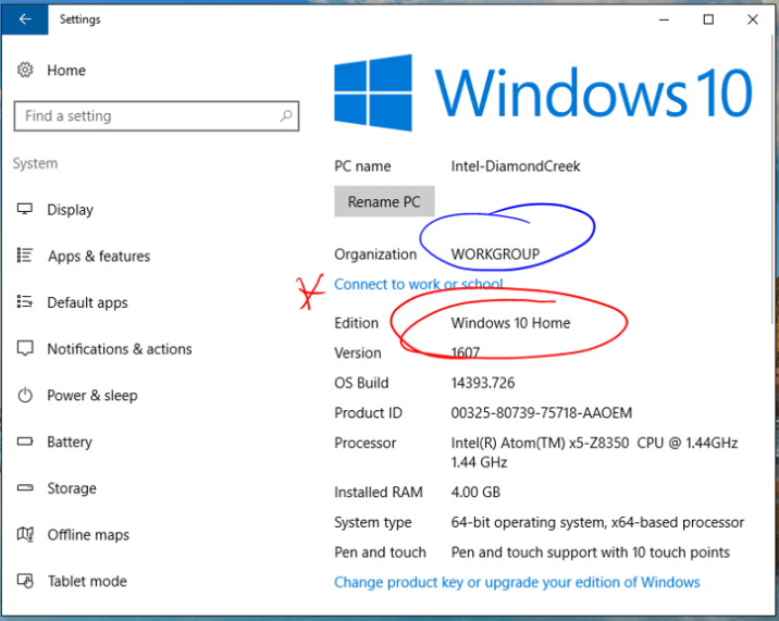 Enrolling a Windows 10 Home Edition BYOD Device Into Intune