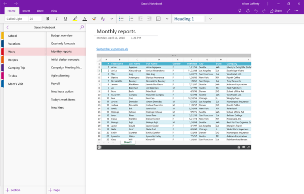 OneNote OneDrive Files