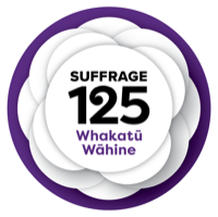 suffrage 125 logo mow