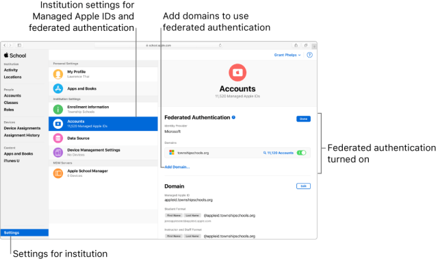 Federated Authentication Links Apple School Manager With AzureAD