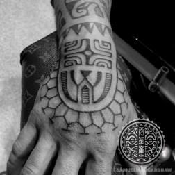 Marquesas Polynesian style tattoo by Samuel Morgan Shaw
