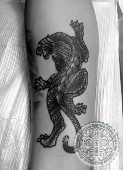 Polynesian Panther tattoo