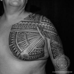 Samoan and mixed Polynesian freehand tattoo