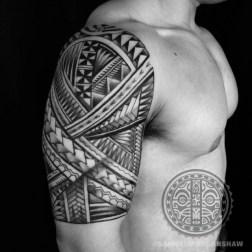 Samoan inspired freehand tattoo