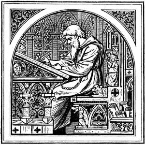 Picture of monk writing - Samuel Pavin blog - How to optimise SEO