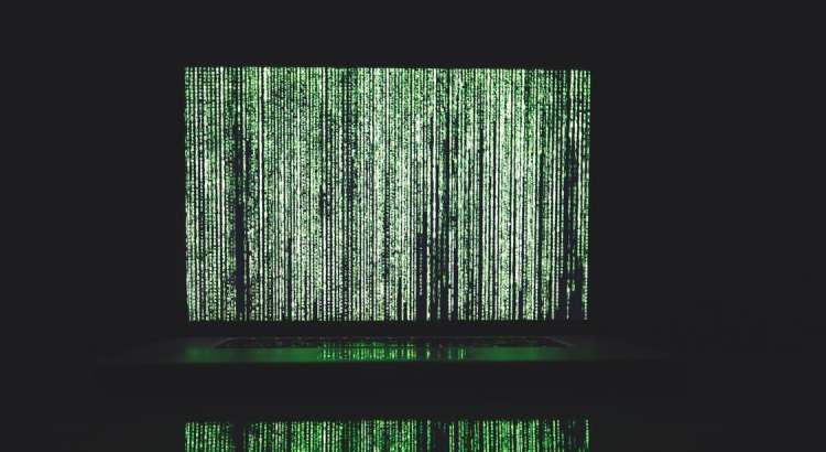 green vertical lines of data on a laptop - Lead validation