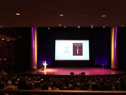 TRUNKY on stage at Skirball Auditorium in NYC