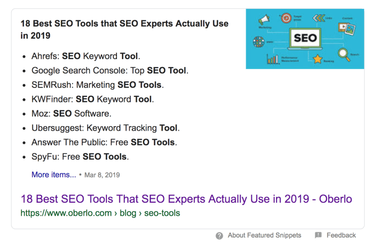 Optimize your content for Featured Snippets
