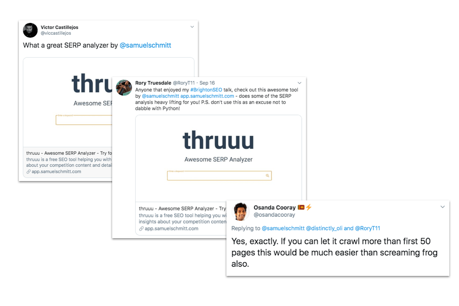 thruuu feedback from users