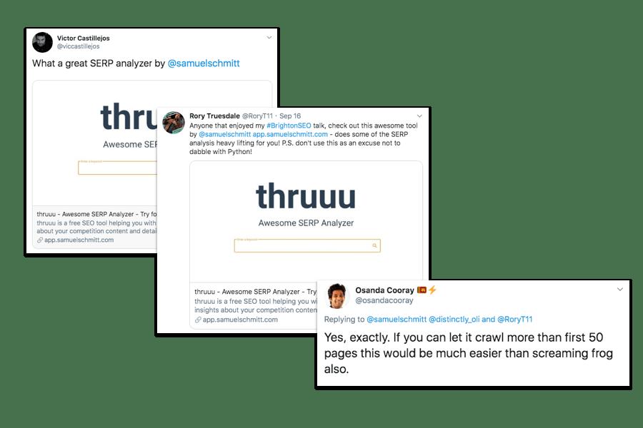 thruuu - retours des utilisateurs