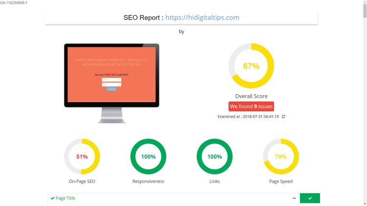 Products like GrowthRobotic allow you to integrate an SEO audit tool easily on any website and without any development effort.