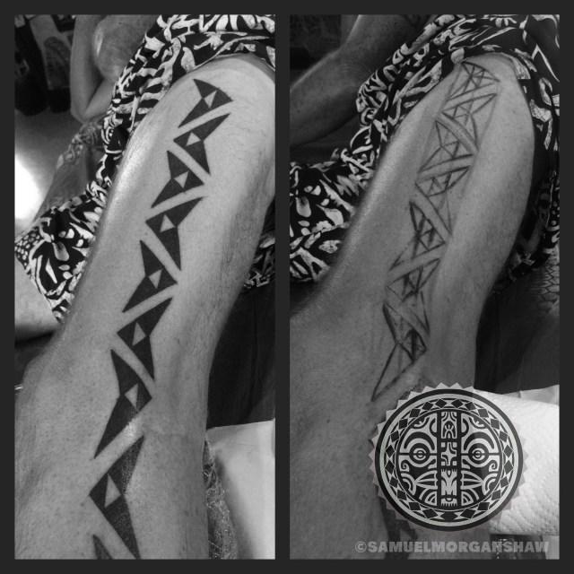 Hawaiian tattoo by Samuel Morgan Shaw