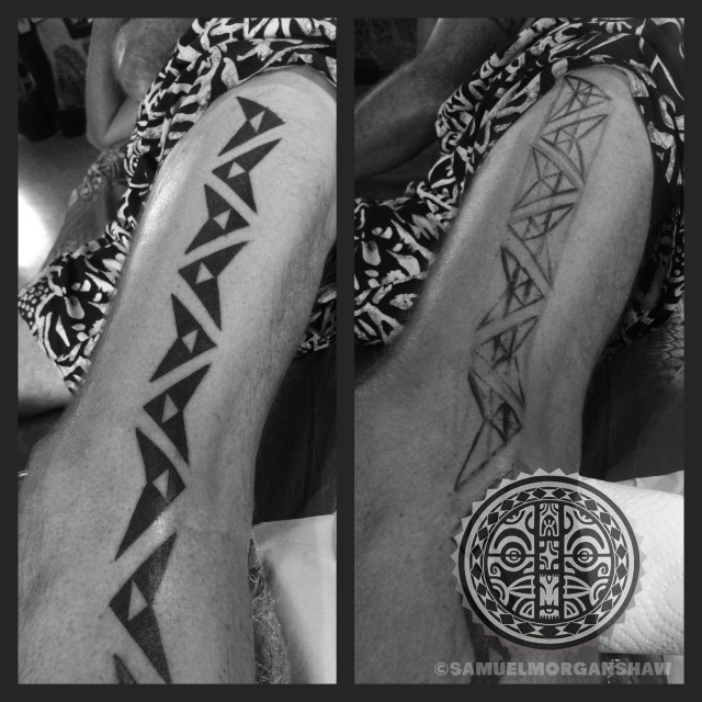 Hawaiian tattoo by Samuel Morgan Shaw