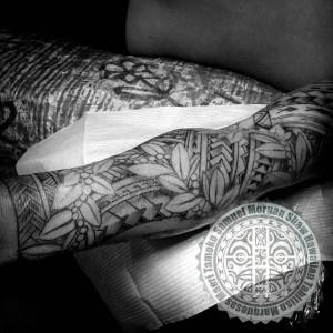 Hawaiian Maile mokihana tattoo