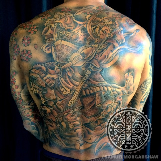 Japanese back piece by Samuel Morgan Shaw