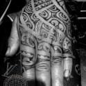 Dotwerk in the tamoko fashion. I didnt do the inricate black work