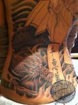 Japanese back piece by Samuel Morgan Shaw