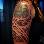 Feminine Polynesian tattoo
