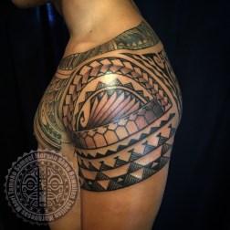 Mixed Polynesian tattoo