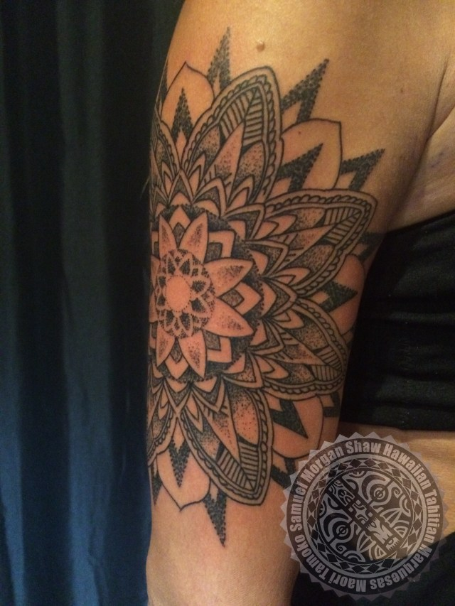 Dot work tattoo Kauai Hawaii