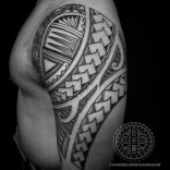Freehand Samoan Inspired tattoos