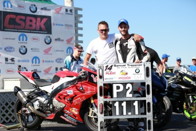 Herve Remetter and Samuel Trepanier on second position at CSBK round 5 Shubenacadie 2015