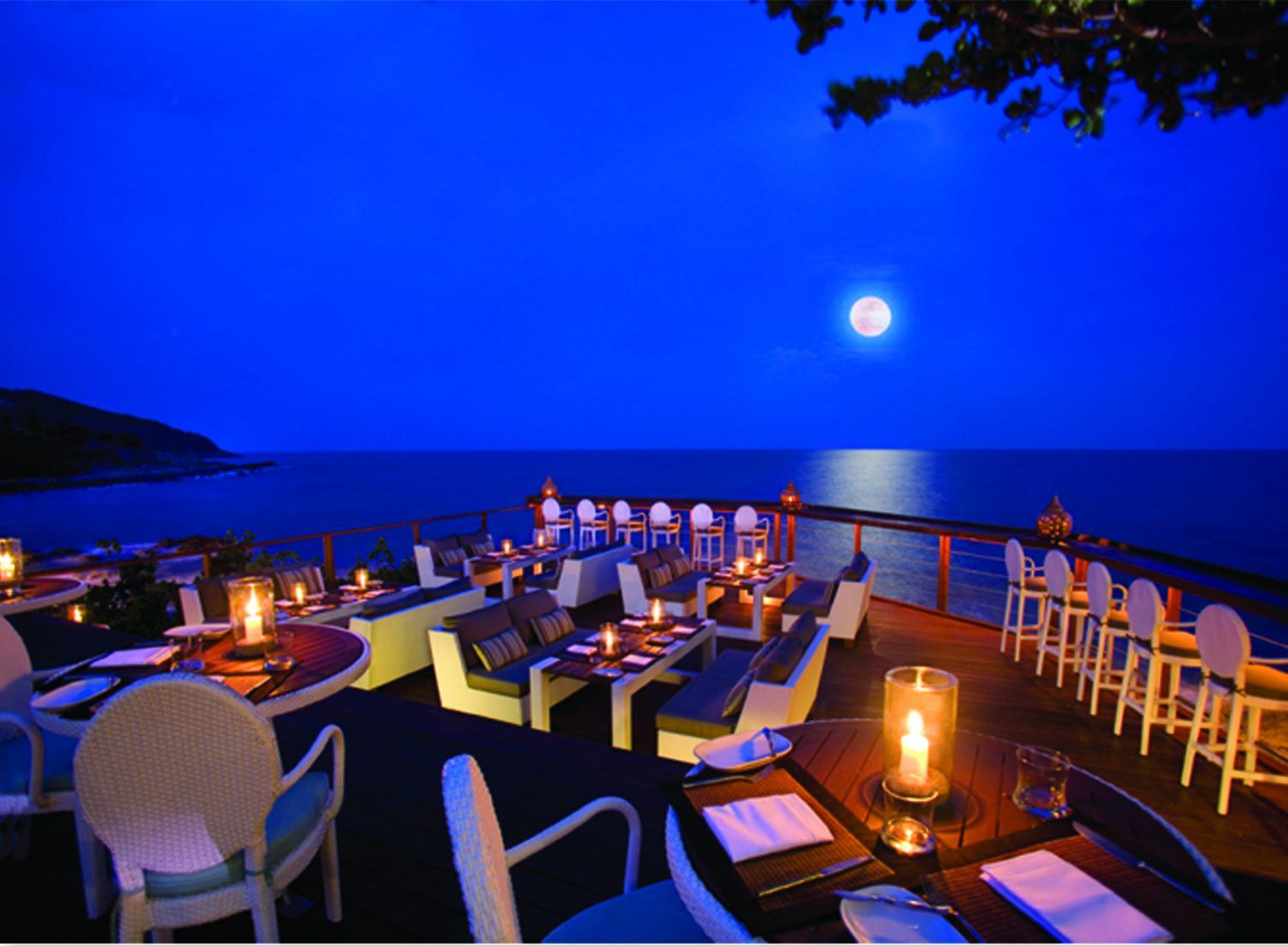 Rock pool restaurant koh samui sea view