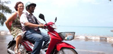 Getting around samui by motorcycle taxis