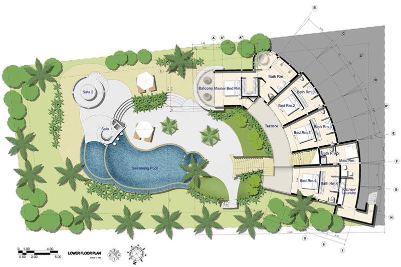 Samui Holiday Homes- Villa Kya Floor Plans, Koh Samui