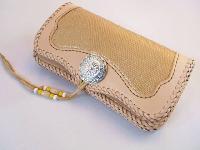 新作ロングウォレット(革財布)はゴールドリザードです!